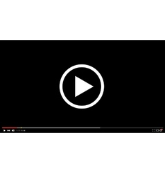 modern video player background vector image