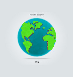 polygonal earth planet low poly design vector image