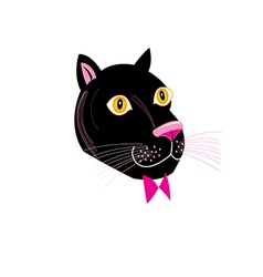 portrait Panthers vector image vector image