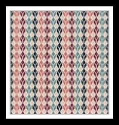 Seamless geometric multicolored native pattern vector image vector image