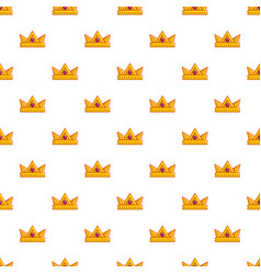 baronet crown pattern seamless vector image