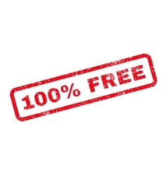 100 Percent Free Text Rubber Stamp vector image