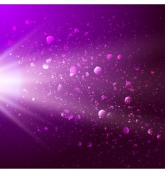 Abstract background with light and bokeh vector