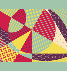 abstract colorful geometric design vector image