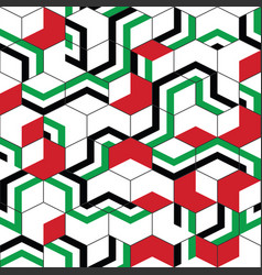 Abstract geometric color in hexagon pattern vector