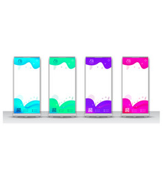 Abstract liquid color roll up banner design vector