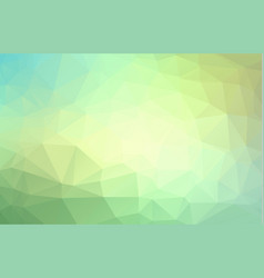 abstract polygonal background green geometric vector image
