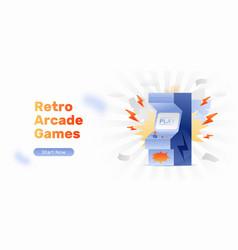 Arcade gaming web banner vector
