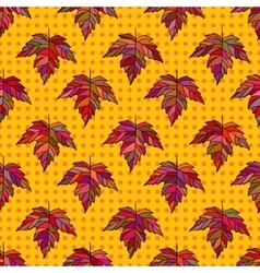 Autumn seamless leaf pattern 9 vector
