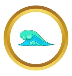 Big sea waves icon vector