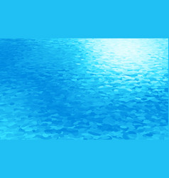 blue rippled water surface or ice texture vector image