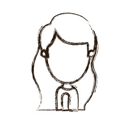 blurred thick silhouette caricature faceless side vector image