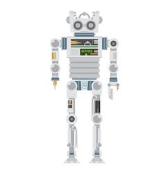 Broken robot flat vector