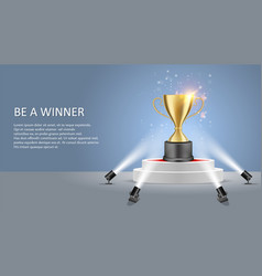 Business sport winner poster web banner vector
