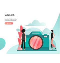 camera concept modern flat design concept web vector image