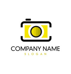 camera logotype vector image