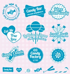 Candy Shop Labels and Icons vector image