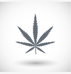 cannabis flat icon flat design vector image
