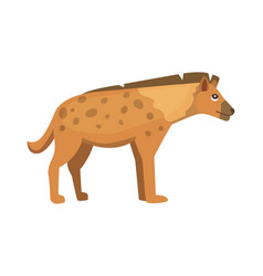 Cartoon funny hyena isolated vector
