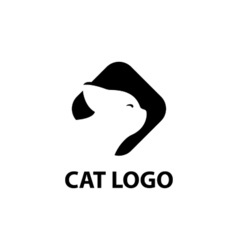Cat logotype elegant business modern - isolated vector image