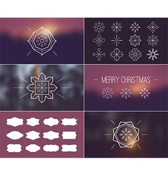 Christmas retro vintage card vector image