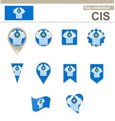 Cis flag collection vector