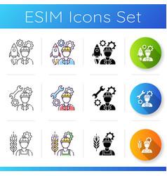 Civil engineering icons set vector