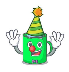 Clown mug mascot cartoon style vector