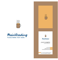 coffee creative logo and business card vertical vector image