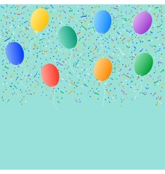 colored balloons confetti background vector image