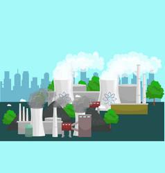 Concept of alternative energy green power vector