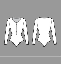 Cotton-jersey t-shirt bodysuit technical fashion vector
