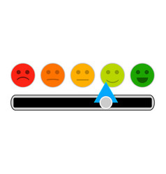 credit mood indicator with smile face vector image