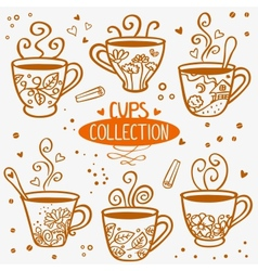 Cups collection vector