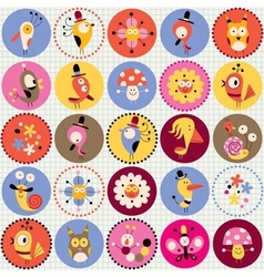 cute characters pattern vector image