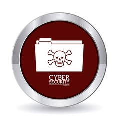 Cyber security digital design vector image
