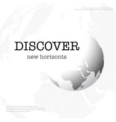 discover new horizonts vector image