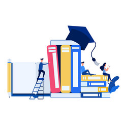 Education and knowledge online training courses vector