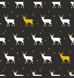 festive seamless background with deer vector image