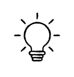 Figure nice bulb idea to create and invent vector