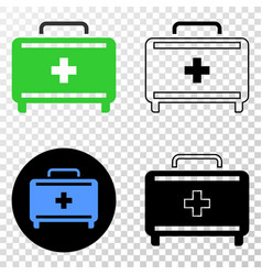 first aid case eps icon with contour vector image