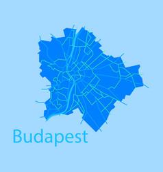 Flat scheme of the budapest hungary city plan vector
