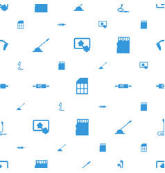 gadget icons pattern seamless white background vector image