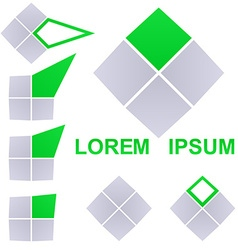 Geometric Logo Set vector image