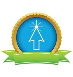 Gold click logo vector image