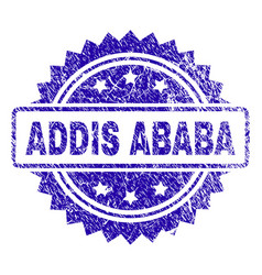 Grunge addis ababa stamp seal vector