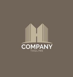 h logo letter based vector image