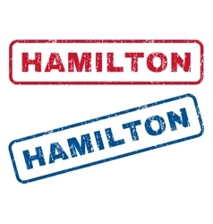 Hamilton Rubber Stamps vector image