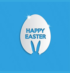 Happy easter typographical background vector