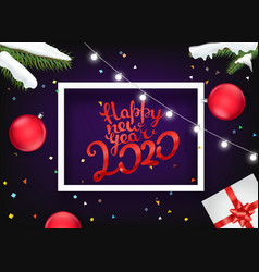 happy new 2020 year concept different decorative vector image
